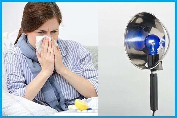 Прогревания: как греть нос при насморке, уши, горло при кашле